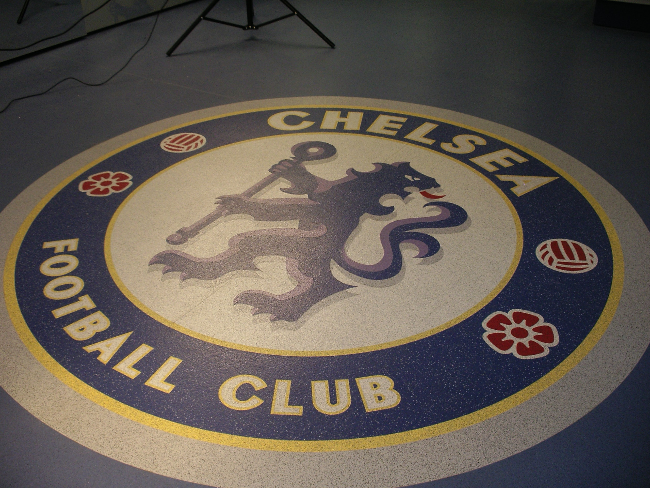 Chelsea crest created using various shades of Polysafe Standard